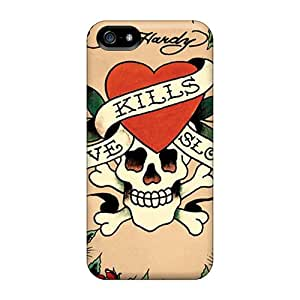 Iphone 5/5s LAw2692xFJK Support Personal Customs Lifelike Ed Hardy Pattern Bumper Hard Phone Covers -JasonPelletier