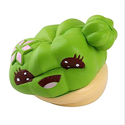 Cactus Cream Scented Squishy Slow Rising Squeeze Kids Halloween Toy Gifts (Green): Clothing