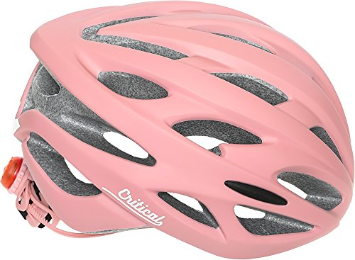 Critical Cycles Adult Silas Bike Helmet With 24 Vents, Matte Blush, One Size