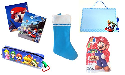 Super Mario Christmas Stocking.Super Mario Bros Inspired Christmas Stocking Gift Set Buy