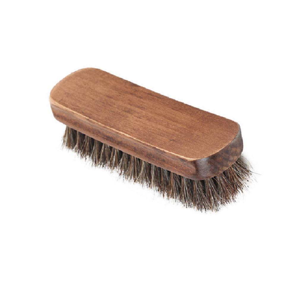 OUTANG Nettoyage Brosse à Chaussures en Bois de Brosse de poussière pour Le Manteau de Sac à Main de vêtement CRIN Naturel 1 Paquet