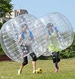 YaeKoo PVC Transparent 5 feet 1.5M Diameter Inflatable Bumper Ball Human Knocker Ball Bubble Soccer Football Outdoor Zorb Ball (1 PACK)