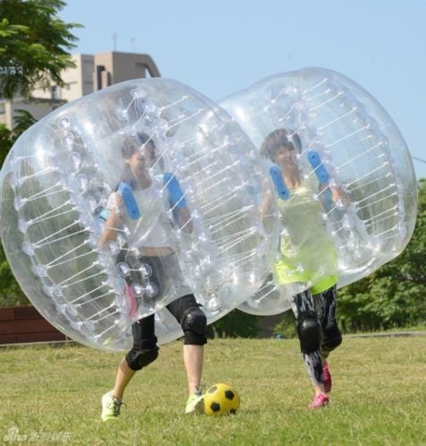 YaeKoo PVC Transparent 5 feet 1.5M Diameter Inflatable Bumper Ball Human Knocker Ball Bubble Soccer Football Outdoor Zorb Ball (1 PACK) ()