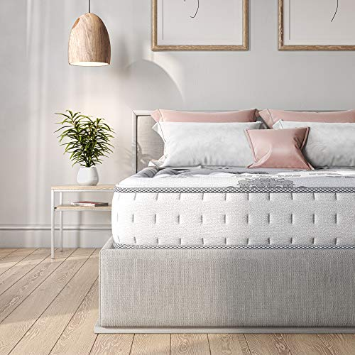 Classic Brands Decker Hybrid Memory Foam and Innerspring 10-Inch Mattress , Full, White