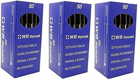 Lot de 50 stylos /à bille noir Stylostik Lot de 2 Noir