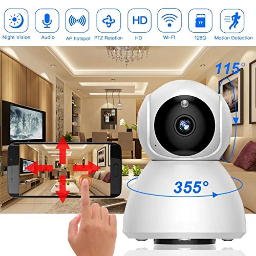 : Oguine 720P HD WiFi Wireless IP Camera Pan Tilt Surveillance CCTV Cameras Baby Monitor Home Security for Baby, Elder,Home, Store, Office, Pet