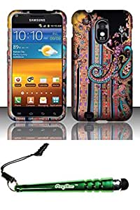 FoxyCase(TM) FREE stylus AND For Samsung Epic Touch 4G D710 Galaxy S2 (Sprint) Rubberized Design Case Cover Protector - Antique Fabric