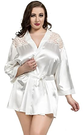 c84e3ee3a80 Nine X - Many Colours! Sexy Lingerie plus size one size.Satin Robe ...