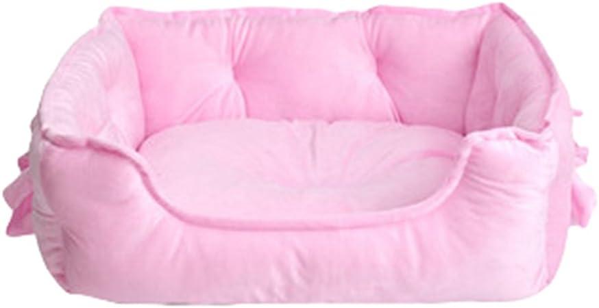 Ceste Casa Cani Pink, 48 * 38 * 18CM LvRao Animale Domestico Letto per Gatto Cane Cucciolo Divano Morbido Calda Casette