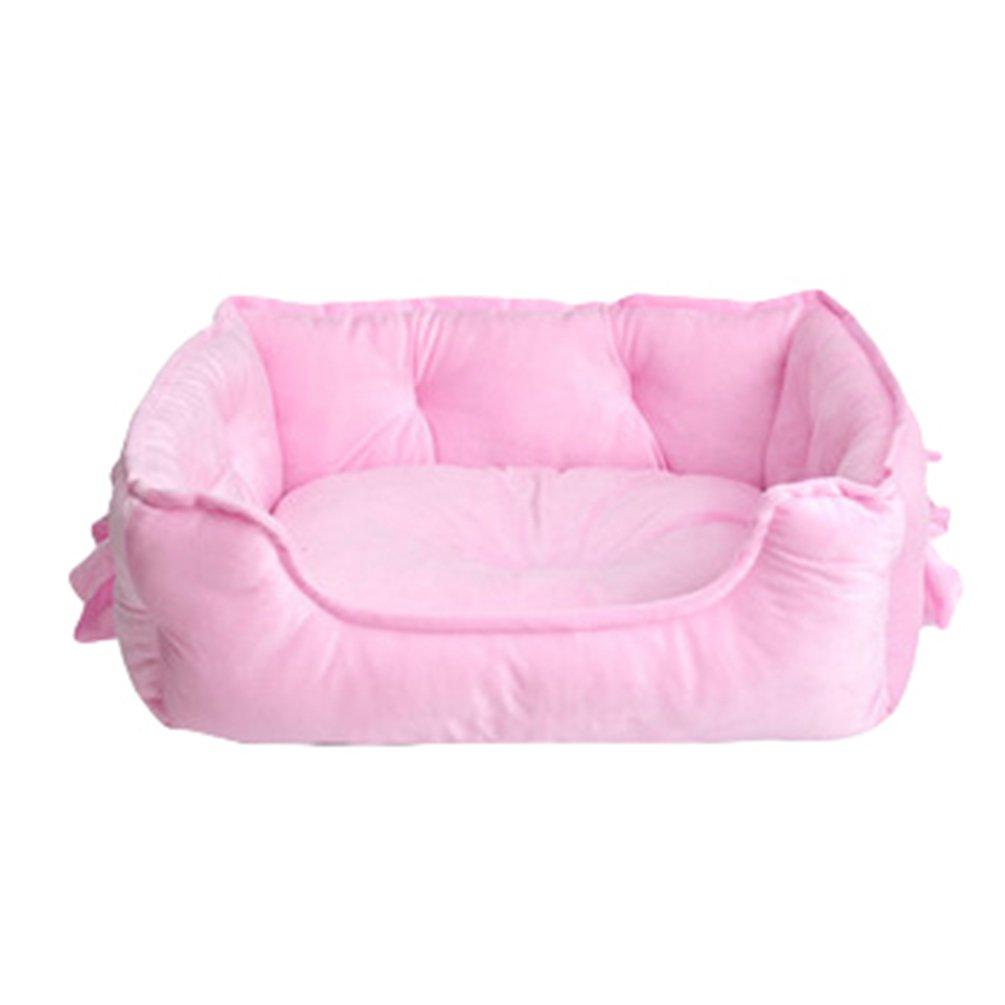 Pink, 58 * 40 * 22CM Ceste Casa Cani LvRao Animale Domestico Letto per Gatto Cane Cucciolo Divano Morbido Calda Casette
