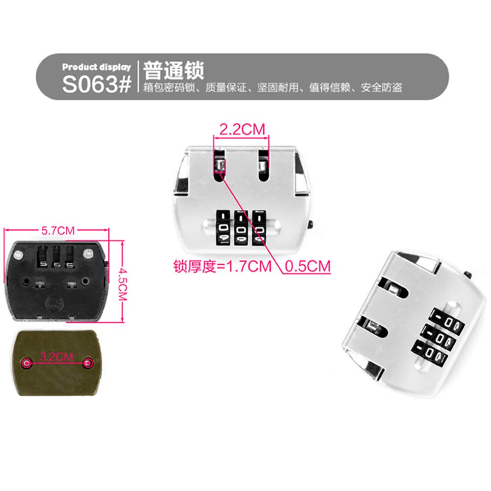 Travel Luggage//suitcases Password lock Replacement Accessories parts S063 YF Set of A pair