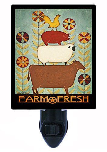 Night Light, Farm Fresh, Cow, Pig, Sheep, Rooster