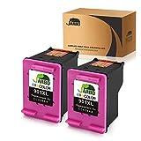 JARBO Remanufactured for HP 901 Ink Cartridges High Yield, 2 Color, Used with HP Officejet 4500 J4500 J4524 J4540 J4550 J4580 J4624 J4640 J4660 J4680 J4680C Printer with Ink Level Display