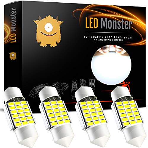 Car Dome Light Bulb - LED Monster Extremely Bright 400 Lumens 3020 Chipset Canbus Error Free LED Bulbs for Interior Car Lights License Plate Dome Map Door Courtesy 1.25Ó 31MM Festoon DE3175 6428 Xenon White