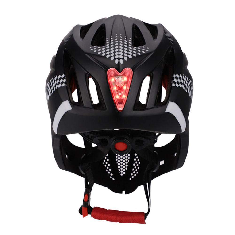 Tama/ño Ajustable 42-52cm SinceY Cascos Infantiles para Ciclismo y Patinaje Adecuado para Ni/ños Cascos Integrales Moto con Luces Traseras Casco Motocross Ni/ño