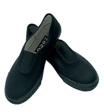 2883d5437426 School Girls Boys Adults Black Gusset Plimsoles All Sizes Free Postage (Childrens  Size