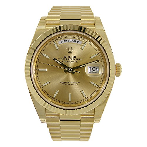 Rolex Day-Date Automatic Champagne Dial 18kt Yellow Gold Mens Watch RLX228238CSP 18kt Yellow Gold Mens Watch