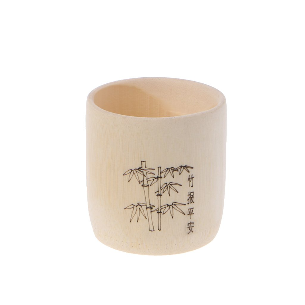 Bamboo Wooden Drinking Cup Coffee Tea Mug Breakfast Beer Milk Wine Glass Milue