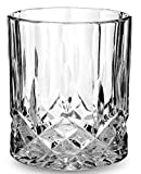 Noblesse Scotch Whiskey Glasses set of 4 by KANARS. Premium Classy Unique Lead Free Crystal Old Fashioned Cocktail Cool Rocks Glass Tumbler for Bourbon Tasting Drinking, Whisky, Brandy