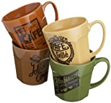 Rosanna Cafe Belle Epoque Grande Mugs Set of 4