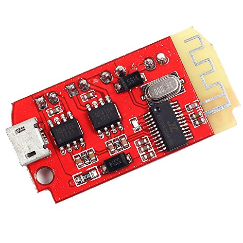 Icstation 2X5W Bluetooth 4.2 Stereo Audio Amplifier Power Amp Module 3.7-5V for Portable Wireless Speaker
