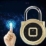 518qkW05f6L. SS150 eLinkSmart Lucchetto per impronte digitali Mini lucchetto intelligente Keyless USB di ricarica Blocco biometrico ad alta…