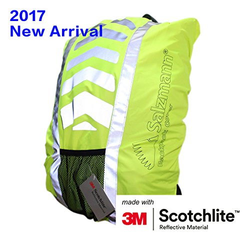 Salzmann 3M Scotchlite Reflective Backpack Cover, Rucksack Cover, Waterproof, Rainproof, 25-36 litres