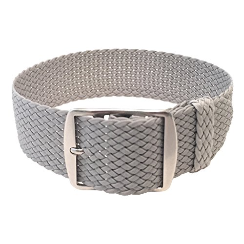 Wrist and Style Perlon Watch Strap (24mm, Light Grey) ()