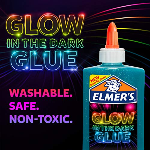 Elmer's Glow-in-the-Dark Liquid Glue, Washable, Blue, 5 Ounces, Great for Making Slime Photo #4