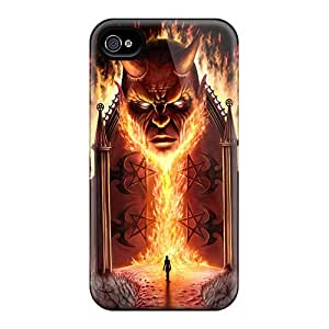 Fashionable QKv17907KsIt Iphone 6 Cases Covers For Evil Fire Protective Cases
