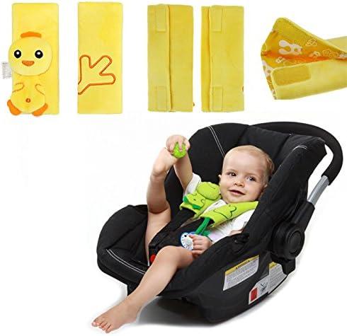 polluelo Animal lindo del dibujo animado amarillo Asiento de coche de beb/é de la correa de la correa de Cubiertas ni/ños peque/ños Cochecito Coj/ín hombreras ni/ños Cabeza la ayuda del cuello