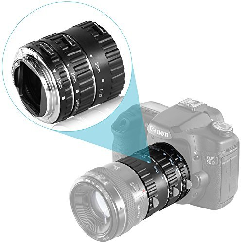 Neewer® Auto Focus Macro Extension Tube Set for Canon EOS D
