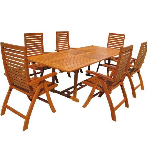 Sitzgruppe Unikko Sitzgarnitur Gartenmöbel Holz Gartentisch Tisch
