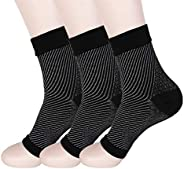 HMILYDYK 3 Pairs Plantar Fasciitis Socks Foot Care Compression Sleeve with Arch Support , Better than Night Sp