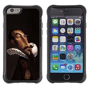 Suave TPU GEL Carcasa Funda Silicona Blando Estuche Caso de protección (para) Apple Iphone 6 PLUS 5.5 / CECELL Phone case / / Victorian Era Brown Nobleman Funny /