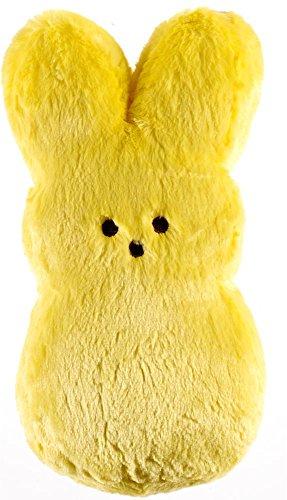 Peeps Shaggy Plush Bunny 15 Inches Yellow Pastel (Peeps Stuffed Bunny)