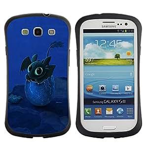 LASTONE PHONE CASE / Suave Silicona Caso Carcasa de Caucho Funda para Samsung Galaxy S3 I9300 / Design Happy Cute Dragon