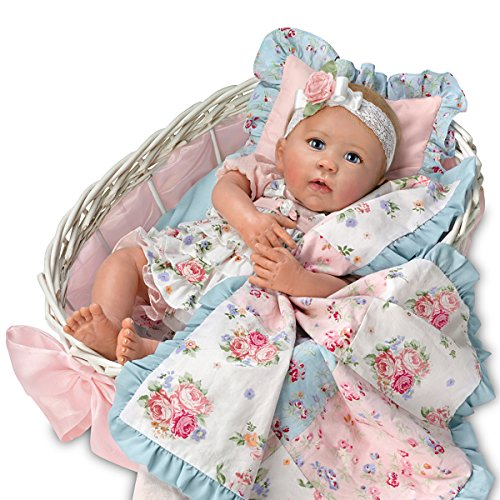 Ashton Drake Lifelike Baby Doll By Linda Murray With Quilt And Basket by The Ashton-Drake Galleries (Image #4)