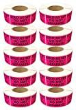 SELLER LABELS (TM) 10 Rolls / 5500 Labels - Best 2'' X 1'' Sold As Set Do Not Separate - (Similar to This Is A Set Do Not Separate, Shipping Labels) - Hot Pink [10 Pack]