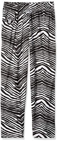Zubaz NFL Oakland Raiders Men's Classic Zebra Printed Athletic Lounge Pants, Black/Silver Medium]()