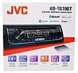 JVC KD-TD70BT CD Receiver Featuring Bluetooth/USB