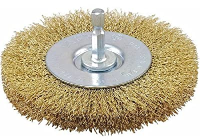 Vermont American 16789 2-1/2-Inch Coarse Brass Wire Wheel Brush with 1/4-Inch Hex Shank for Drill
