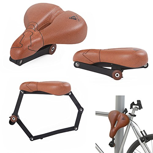 Seatylock Comfort Classic Heavy Duty Drill Resistant Anti-Theft Bicycle Hybrid Saddle Lock Brown