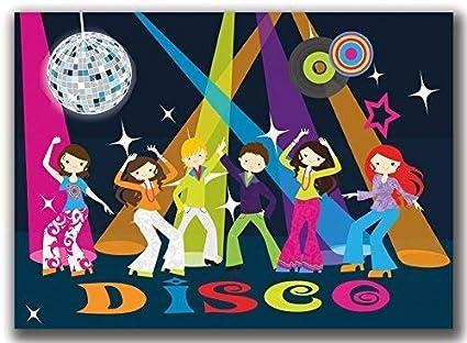 Cartes D Invitation Anniversaire D Enfant Disco Dance Party Amusant Jeunes Filles Lot De 8 Amazon Fr Fournitures De Bureau