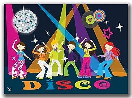 Invitaciones Fiesta Cumpleaños Disco bailar Niños Diversión ...