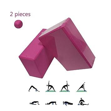 LieYuSport Bloque de Yoga,2 Piezas Bloques Yoga de Espuma de ...