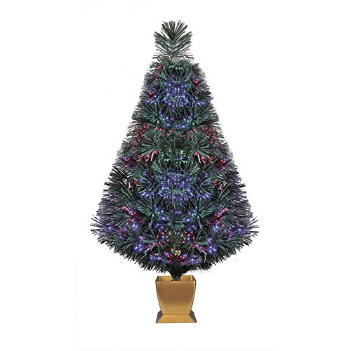 holiday time 32 inch green fiber optic christmas tree - Apartment Christmas Tree