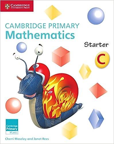 Cambridge Primary Mathematics Starter Activity Book C (Cambridge Primary Maths)
