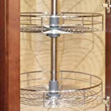 Dowell 4001 360D 30in H Wall Corner Lazy Susan ,Double Rack