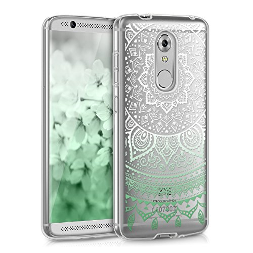 kwmobile TPU Silicone Case for ZTE Axon 7 Mini - Crystal Clear Smartphone Back Case Protective Cover - Mint White Transparent